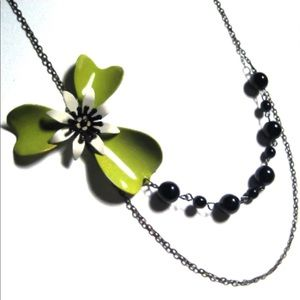 Jewelry - Lime o' Licous Vintage Enamel Flower Bead Necklace